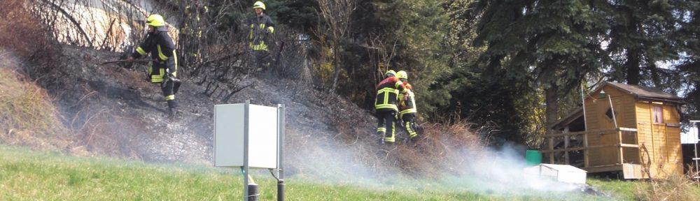 Einsatz – Brand mittel – Ödlandbrand